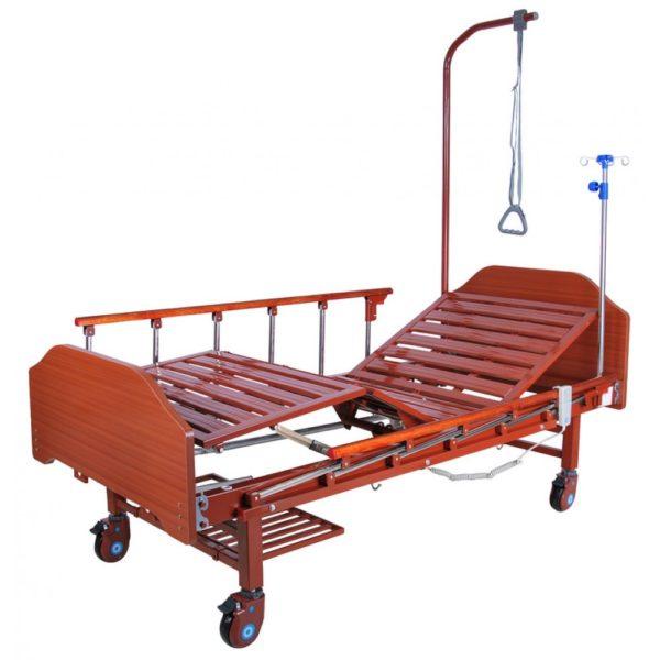 Кровать электрическая (2 функции) с полкой и накроватным столиком Мед-Мос Db-7 Mm-077н