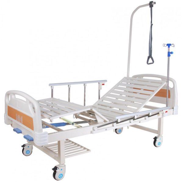 Кровать механическая (2 функции) с полкой и столиком Мед-Мос Е-8 Мм-2014н-00