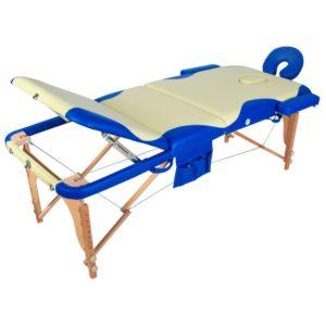 Массажный стол складной деревянный Мед-Мос Jf-ay01 3-х секционный (Мст-103л)