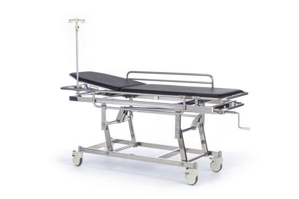 """Тележка медицинская для перевозки больных, механическая, модель """"Медицинофф"""", с принадлежностями, вариант исполнения: E-5"""
