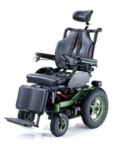"""Кресло-коляска инвалидная с электроприводом (электрическая) """"Bronco"""" раскладывающаяся, ширина сиденья 44/46 см, грузоподъемность 130 кг LY-EB103 (103-207)"""